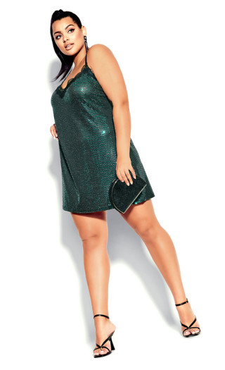 Disco Fever Dress - emerald