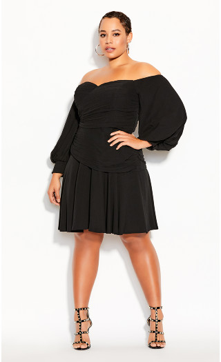 Rebel Royale Dress - black