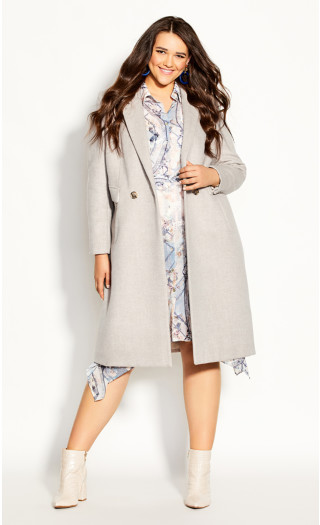 Luxe Lover Wool Blend Coat - beige