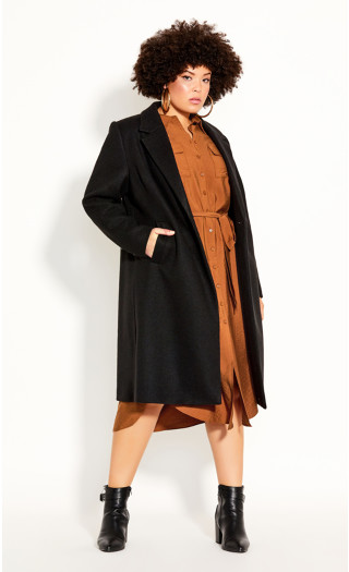 Effortless Chic Coat - black