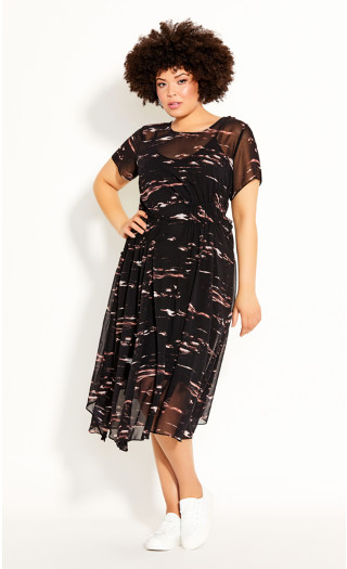 Moody Sky Dress - black