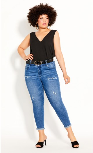 Double Layer Top - black