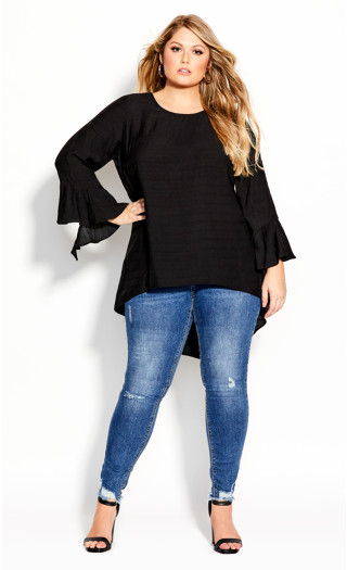 Hi Lo Love Top - black
