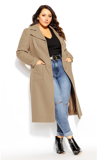Royal Life Coat - taupe