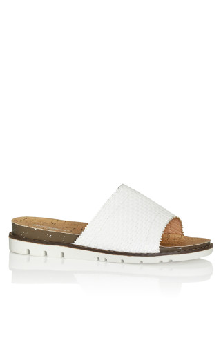 Fiona Slip On Sandal - white