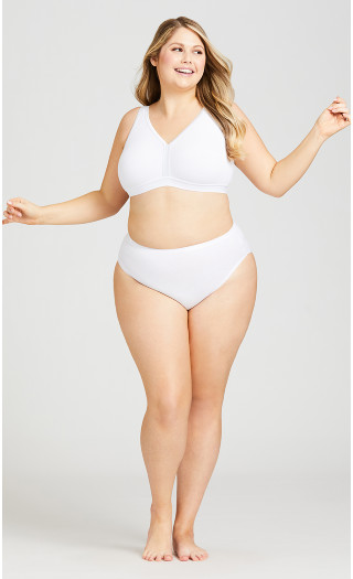 Basic Cotton Bra - white