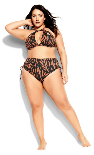 Cancun Underwire Top - tiger print