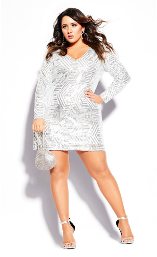 Bright Lights Dress - white