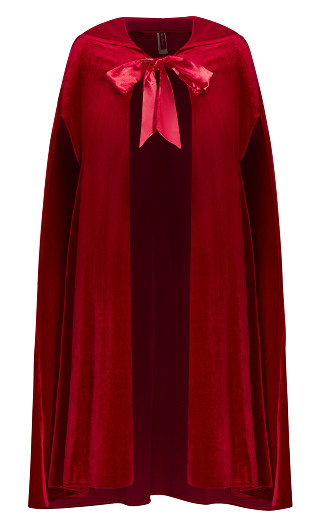 Velvet Cape - deep red