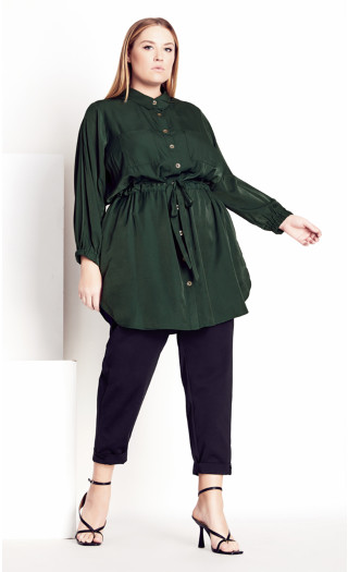 Soft Touch Collared Tunic - alpine