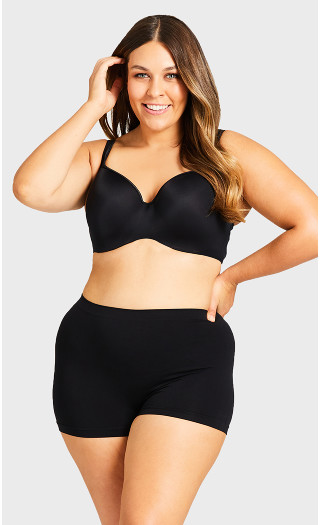 Seamless Boyshort Panty - black