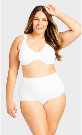 Smooth Embrace Brief - white