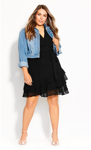 Pretty Ruffle Dress - black