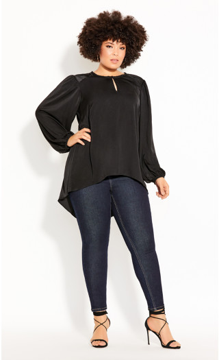 Hi Lo Sense Top - black