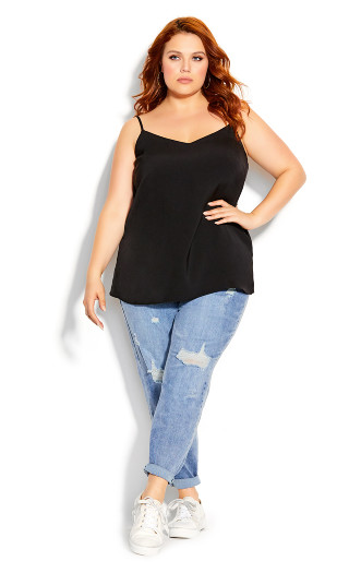 Simply Sweet Cami - black