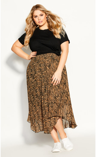 Bengal Skirt - tiger print