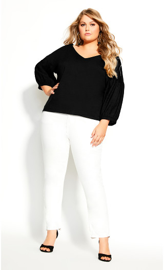 Easy Twist Back Top - black