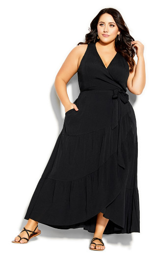 Sunset Maxi Dress - black