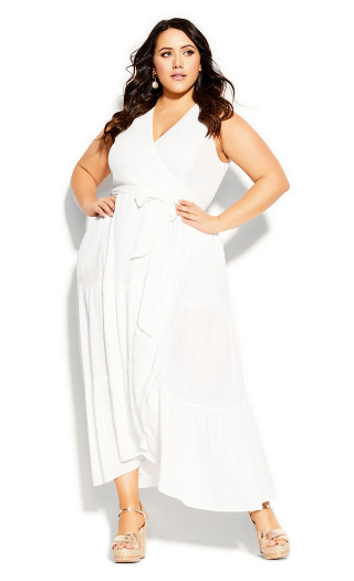 Sunset Maxi Dress - ivory