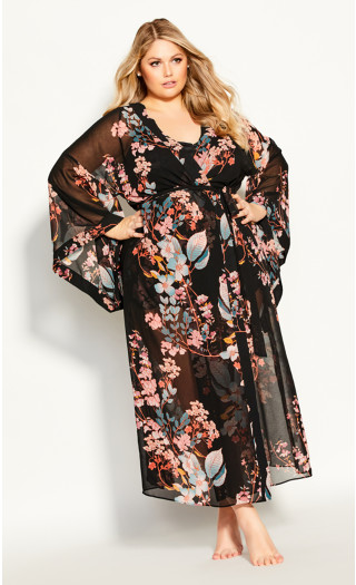 Hannah Long Wrap - black
