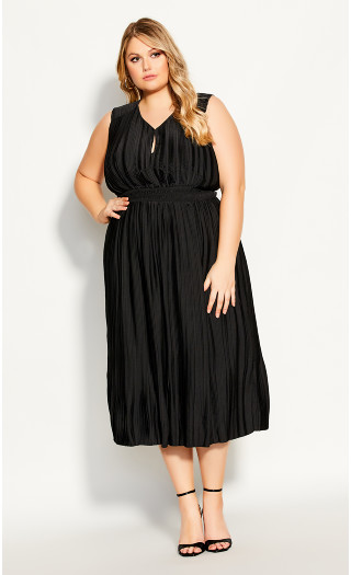 Perfect Pleat Dress - black