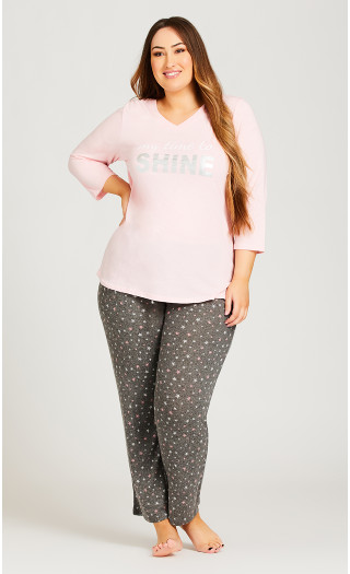 Shine Sleep Top - pink