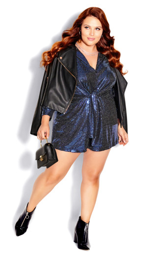 Glamour Playsuit - electric blue
