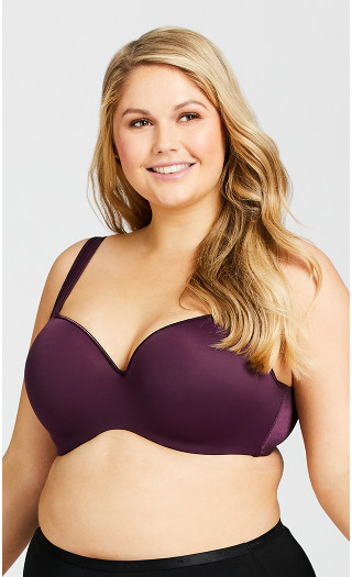 Balconette Fashion Bra - plum