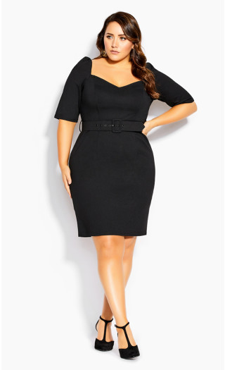 Illusive Sleeve Dress - black