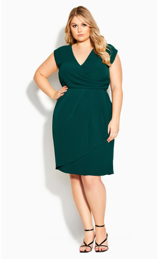 Classic Wrap Dress - sea green
