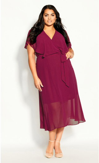 Softly Tied Dress - sangria