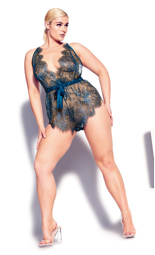 Emily Lace Teddy - blue