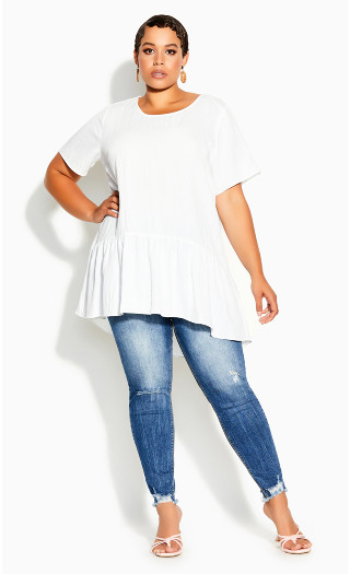 Breezy Frill Top - ivory