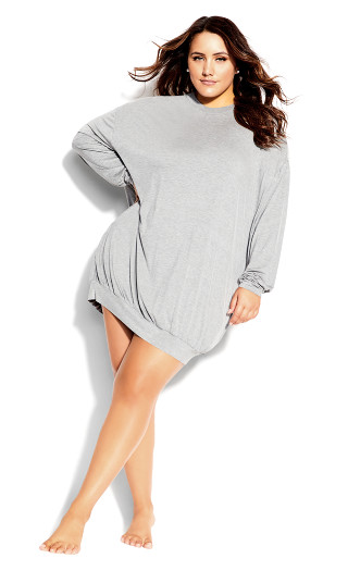Molly Long Sleeve Tunic - gray