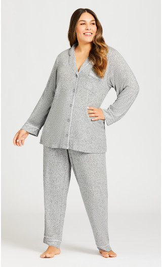 Hacci Sleep Pant - gray