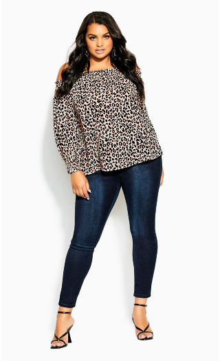 Prowess Top - leopard