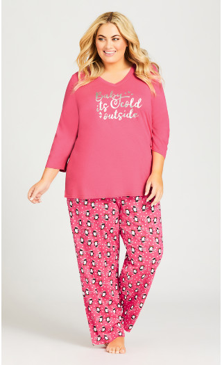 Cold Outside Sleep Top - pink