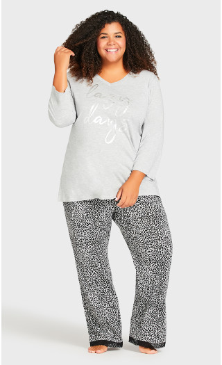 Lazy Days Sleep Top - gray