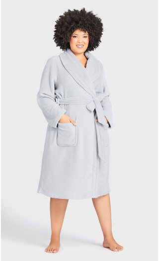 Fleece Robe - gray