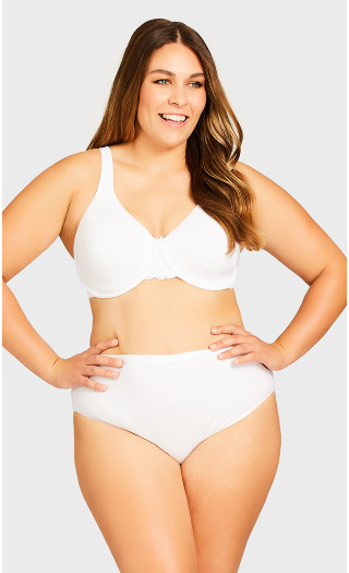 Comfort Hi Cut Brief - white