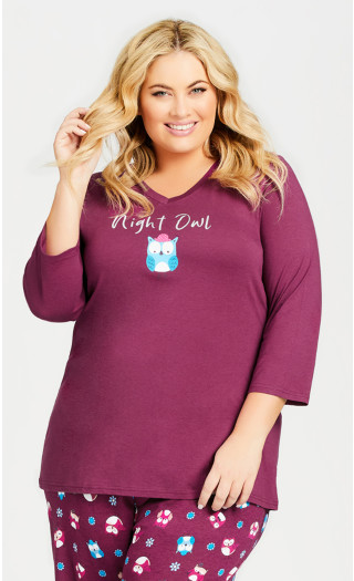 Night Owl Top - plum