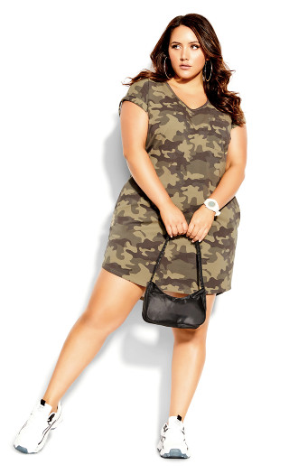 Camo Days Dress - khaki