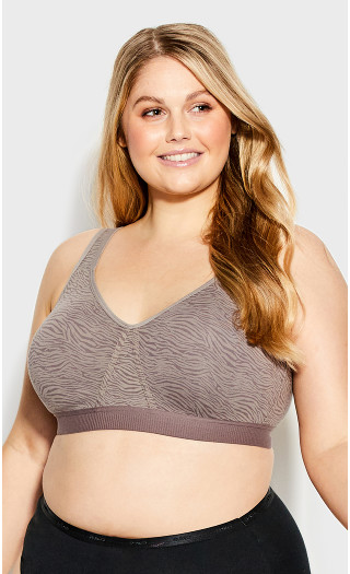 Knit Soft Bra - french gray