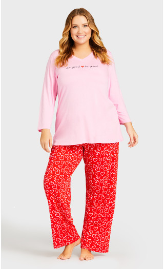 Print Sleep Top - pink