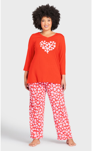 Print Sleep Pant - shadow heart