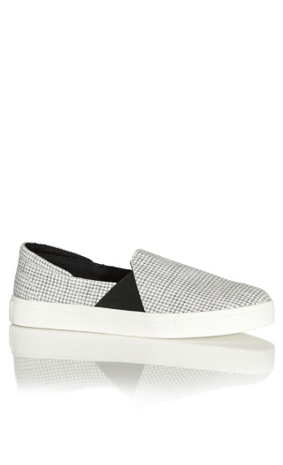 Dallas Gingham Slip On - black