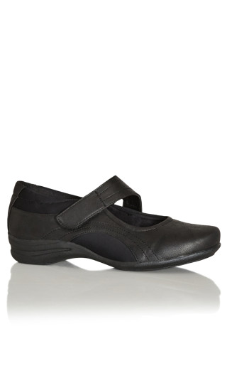 Mary Jane Comfort Flat - black