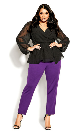80s Outfit Inspiration, Party Ideas TOP WILD DOBBY - Black - 24  XXL $41.40 AT vintagedancer.com