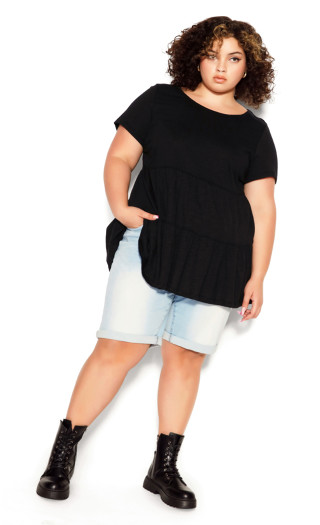 Lexi Tiered Top - black