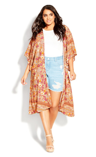 Serene Duster - yellow floral